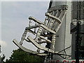 TQ2884 : Giant chair near Camden Market by Peter S