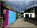 H4572 : Colourful outbuildings, Campsie, Omagh by Kenneth  Allen