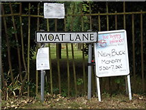 TM0890 : Moat Lane sign by Adrian Cable