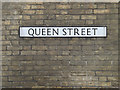 TM0890 : Queen Street sign by Adrian Cable