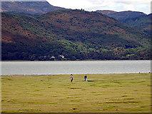 SH6214 : Walking on the salt marsh by John Lucas