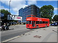 ST5972 : Open top red double-decker bus, Temple Gate, Bristol by Jaggery