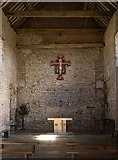 TM0308 : Chapel of St Peter on the Wall, Bradwell-on-Sea: interior by Julian Osley