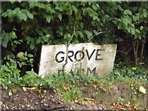 TM3072 : Grove Farm sign by Adrian Cable