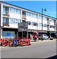 SZ1593 : Temporary barriers on  the Bargates pavement, Christchurch by Jaggery