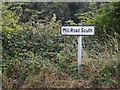 TM0575 : Mill Road South sign by Geographer