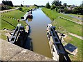 TF5801 : Looking down onto Salters Lode lock by Richard Humphrey