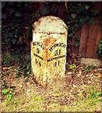 TM3876 : Milestone Halesworth Bramfield Road by Cud05