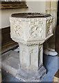 SK7634 : Font, St Helen's church, Plungar by Julian P Guffogg
