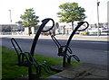 SY6778 : Nautical bike racks by Neil Owen