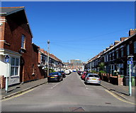 SX9192 : One-way signs, Clinton Street, St Thomas, Exeter by Jaggery