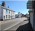 SX9688 : No Cycling On Footway sign,  High Street, Topsham by Jaggery