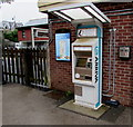ST1871 : Arriva ticket machine outside Penarth railway station by Jaggery