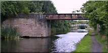 SE2519 : Calder and Hebble Navigations Long Cut - Combs Colliery Bridge by Bobby Clegg