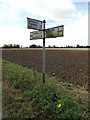 TM0571 : Roadsign on the B1113 Finningham Road by Adrian Cable