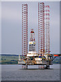 NH7767 : Drilling Rig GSF Monarch in Cromarty Firth by David Dixon