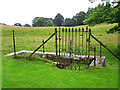 NY5442 : Roadside well at Staffield (1) by Rose and Trev Clough