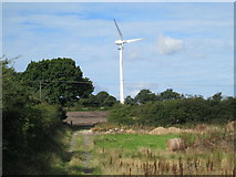 SJ9647 : Wind turbine south of Wetley Rocks by David Weston
