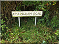 TM0669 : Gislingham Road sign by Adrian Cable