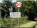 TM0071 : Walsham Le Willows Village Name sign by Geographer
