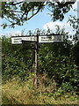 TL9870 : Roadsign on the C645 Ixworth Road by Adrian Cable