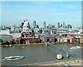 TQ3281 : View from Viewing area of Tate Modern toward St Paul's by PAUL FARMER