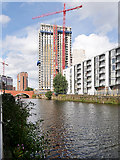 SJ8297 : New Development next to River Irwell by David Dixon
