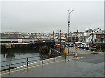SC2484 : Footbridge partly open, Peel Harbour by Christine Johnstone