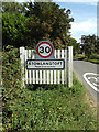 TL9568 : Stowlangtoft Village Name sign on The Street by Adrian Cable