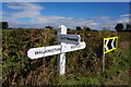 TA0135 : Signpost on Coppleflat Lane near Bentley by Ian S