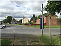 SP3582 : Bus stop on Almond Tree Avenue, Hall Green, north Coventry by Robin Stott