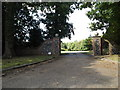 TL9566 : Entrance to Little Haugh Hall by Adrian Cable