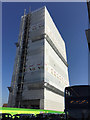 SP3378 : What goes up… Demolition of Station Tower, Friargate site, Coventry by Robin Stott