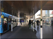 SP3378 : Bus stands outside Coventry station by Robin Stott