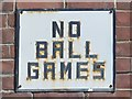 NZ2364 : NO BALL GAMES by Mike Quinn