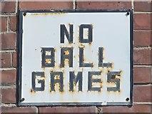 NZ2364 : NO BALL GAMES by Mike Quinn