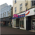 SX9472 : Shop to let, south side of Bank Street, Teignmouth by Robin Stott