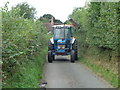 SO8870 : Hedge cutting in Lunnon Lane, Rushock by Jeff Gogarty