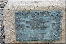 SW4629 : Plaque, Newlyn Fishermen Memorial by N Chadwick