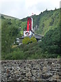 SC4385 : The Great Laxey Wheel, from the Mines Yard by Christine Johnstone
