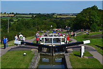SP6989 : View down Foxton locks, from the top by David Martin