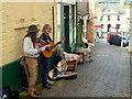 SO2242 : Elderly buskers, Hay-on-Wye by Jonathan Billinger
