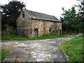SK3357 : Old barn, Cowley Farm, Lea by Christine Johnstone