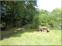 SO9559 : Picnic site and footbridge at Shell Ford by Jeff Gogarty