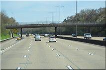 TQ2352 : Footbridge, M25 by N Chadwick