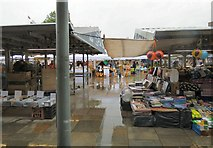 SJ9494 : Wet Saturday Market by Gerald England