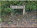 TM1191 : Rode Lane sign by Adrian Cable
