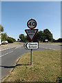 TM1292 : Roadsigns on Old turnpike by Geographer