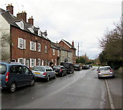 ST6976 : Parkfield Road houses and cars, Pucklechurch by Jaggery