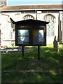 TM1292 : St.Michael's Church Notice Board by Geographer
